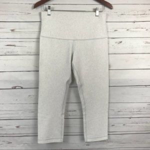 Lululemon Wunder Under Crop-White Nimbus, 12